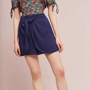 Hei Hei navy skort with bow detail